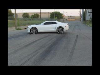 """DG Motoring 2010 Camaro SS burnout on 24"""" 26"""" Asanti AF150"""